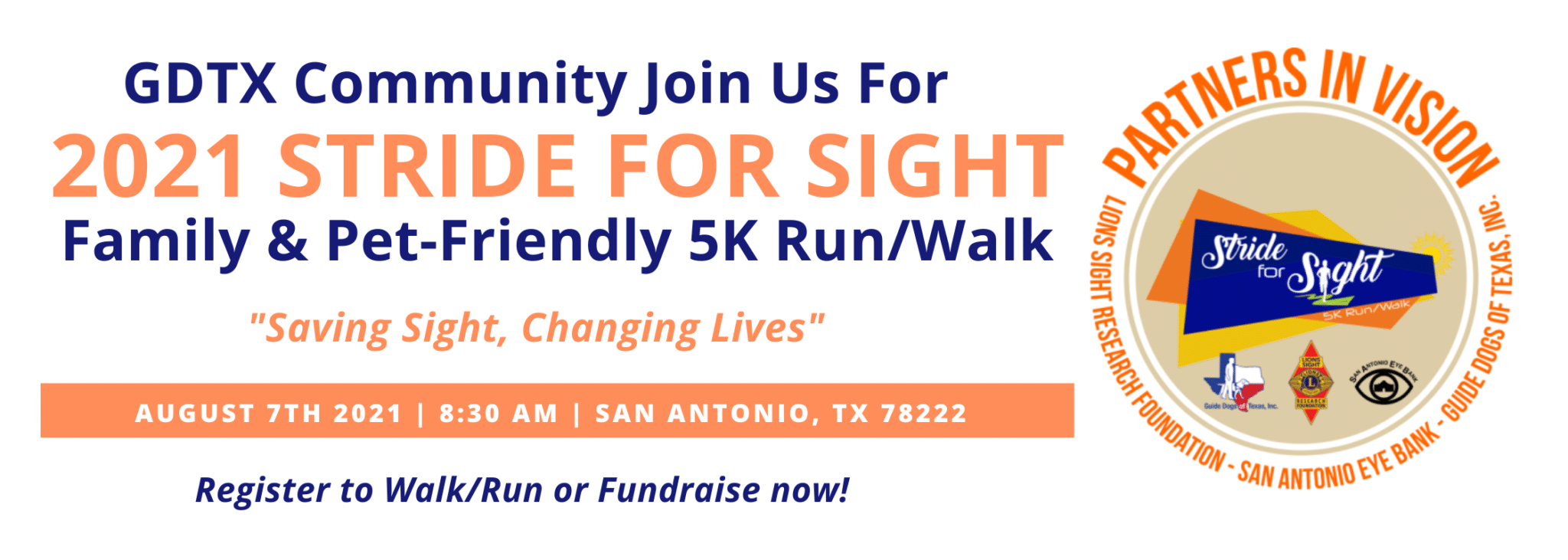 Join US ON AUGUST 7th 2021 830 AM San Antonio, TX 78222